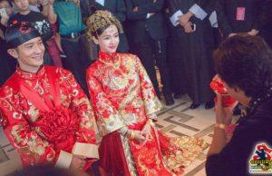 หวงเสี่ยวหมิง-แองเจลล่าเบบี้ จัดงานแต่งสุดอลังการ ดาราร่วมงานเพียบ